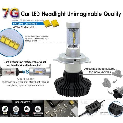 Набор светодиодного головного света UP-7HL-H11W-4000Lm (H11, 4000 лм, холодный белый) Превью 2