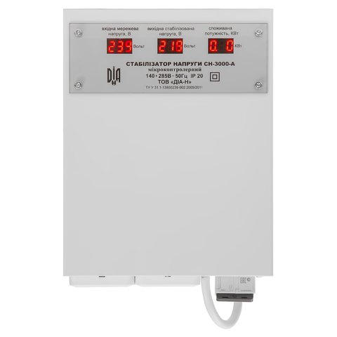 Стабілізатор напруги ДІА-Н СН-3000-А Прев'ю 1