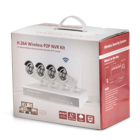 Комплект: мережевий відеореєстратор MIPCK0420 та 4 безпровідних IP-камер спостереження (720p, 2 МП) Прев'ю 3