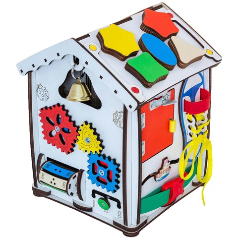 Бизиборд GoodPlay Развивающий домик с подсветкой (24×24×30) Превью 1