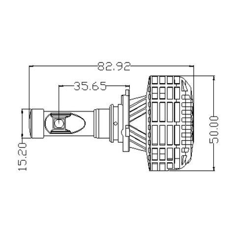 Car LED Headlamp Kit UP-6HL (9005 (HB3), 3000 lm) Preview 3