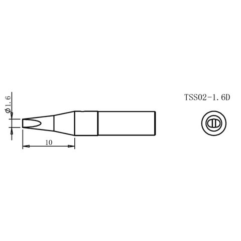 Soldering Iron Tip Quick TSS02-1.6D Preview 1